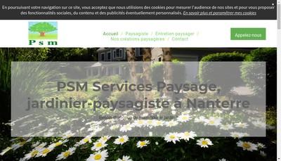Site internet de PSM Services Paysage