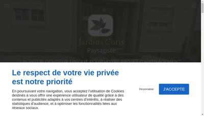 Site internet de Jardins Chris
