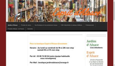 Site internet de Jardins d'Alsace