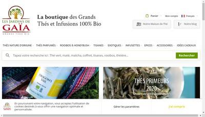 Site internet de Maka - les Jardins de Gaia