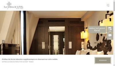 Site internet de Les Jardins de la Villa les Jardins de la Villa & Spa