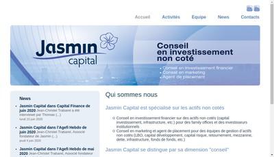 Site internet de Jasmin Capital