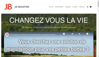 Site internet de Jb Industrie