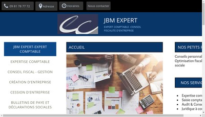 Site internet de Jbm Expert