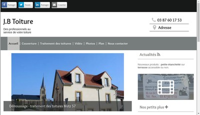 Site internet de JB Toiture