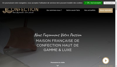 Site internet de Jc Confection