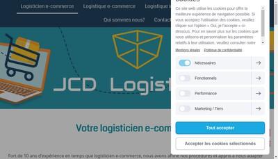 Site internet de Jcd Logistique