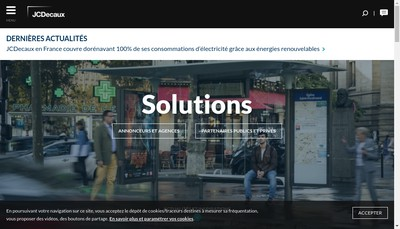 Site internet de Jcdecaux France