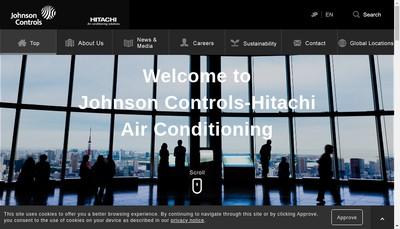 Site internet de Johnson Controls Hitachi Air Conditioning Europe SAS