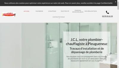 Site internet de Jcl Plomberie Chauffage