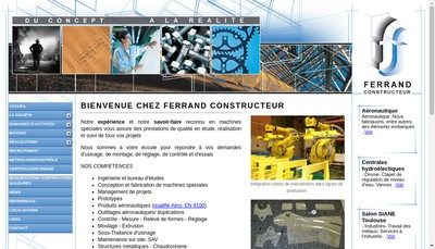 Site internet de Ferrand Constructeur