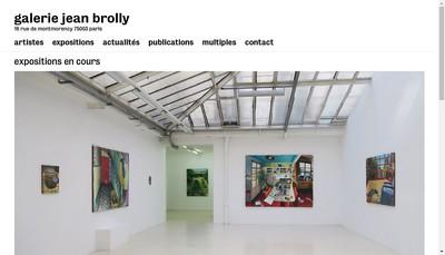 Site internet de Galerie Jean Brolly