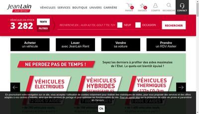 Site internet de Jean Lain Automobiles