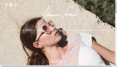Site internet de Jeanne Source