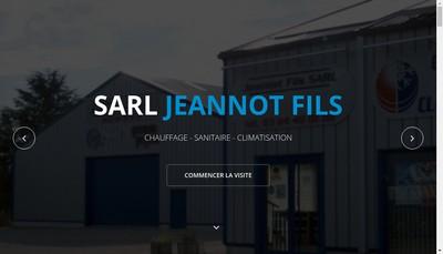 Site internet de SARL Jeannot Fils