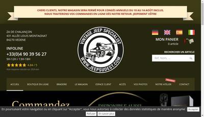 Site internet de Jeep Sud Est