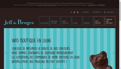 Site internet de Jeff de Bruges Diffusion