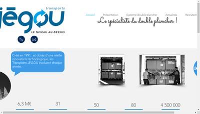 Site internet de Transports Jegou