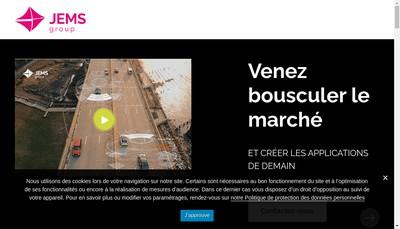 Site internet de Jems Datafactory
