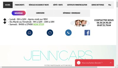 Site internet de Jenn'Cars