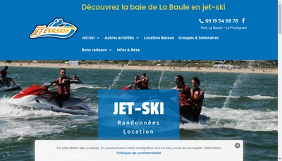 Site internet de Atlantic Jet Evasion
