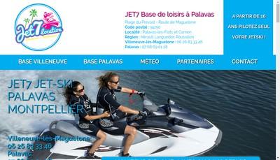 Site internet de Jet 7 Location