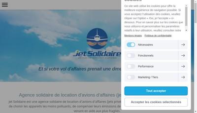 Site internet de Jet Solidaire