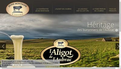 Site internet de Union Fromagere Jeune Montagne