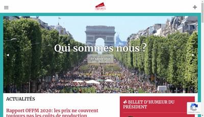 Site internet de Regie Communication Jeunes Agriculteurs