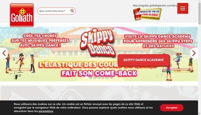 Site internet de Goliath France