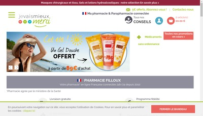 Site internet de Pharmacie Filloux Sante