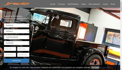 Site internet de JF Auto