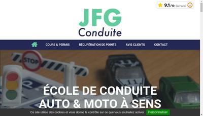 Site internet de Jfg Conduite