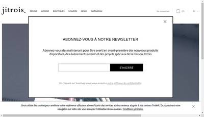 Site internet de Jean Claude Jitrois Paris