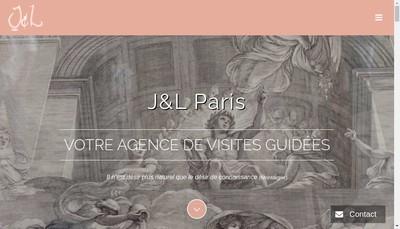 Site internet de J&L Paris