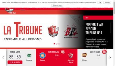 Site internet de Jl Bourg Basket (Jeunesse Laique Bourg Basket)