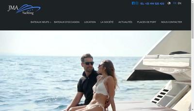 Site internet de Jma Yachting