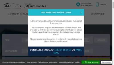 Site internet de Automobiles Franc Comtoises