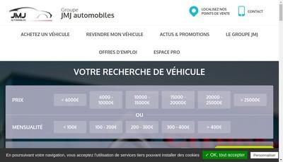 Site internet de Jmj Automobiles