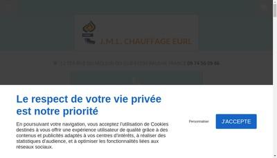 Site internet de Jml Chauffage