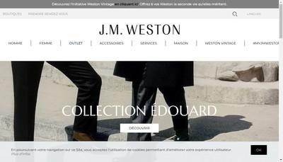 Site internet de JM Weston Weston