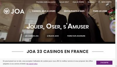 Site internet de Joa Casino