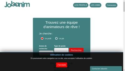 Site internet de Jobanim Formation