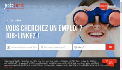 Site internet de Job Link