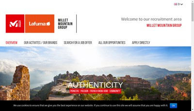 Site internet de Millet Mountain Group SAS