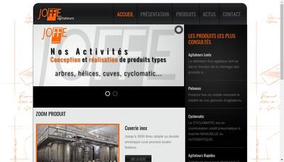Site internet de Joffe Agitateurs