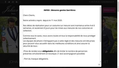 Site internet de Johann Paris