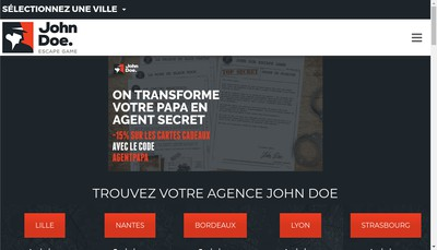 Site internet de John Doe Game