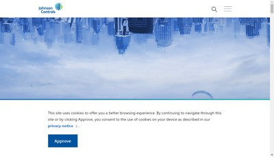 Site internet de Johnson Controls Harnes