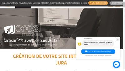 Site internet de Jordel Medias